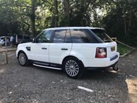 White Range Rover sports 2011 plate 60000