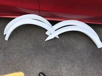 Ford transit mk7 sport van st wheel arches in frozen white swb spoilers