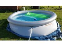 10ft Bestway swimming pool complete setup with heater - 4 weeks old