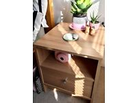 TWO BEDSIDE TABLES (6 months old, mint condition)