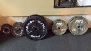 Olympic style weight plates