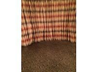 Mink, rust & brown curtains