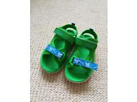Clarks green sandals - size 6 - as new.