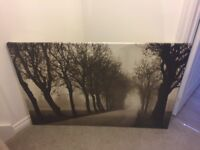 Canvas picture of trees
