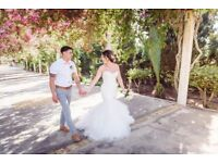 IVAN blue by enzoani wedding dress size 10/12