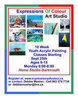 Youth (ages 9-15)  Arylic 10 Week Painting Classe