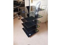 Black Gale - Vetro Hi-fi - Rack - Stand - Stereo Unit - High Quality Hi-Fi