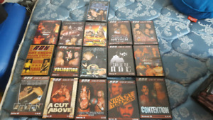 108 Wrestling DVDS for sale roh,wwe,wwf,pwg,ecw