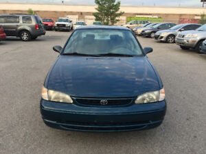1998 Toyota Corolla. CERTIFIED, E TESTED, WARRANTY, NO ACCIDENT