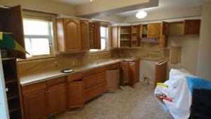 Kitchen Cabinets, Bathroom tubs Tiles Countertops Reglazing