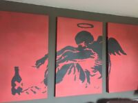 Bansky style canvas