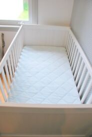 cot mattress vyssa ikea cot bed