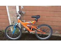 "20 "" Boys Bike with front and rear suspension in very good working condition"