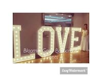 5FT LIGHT UP LOVE LETTERS!!! THE BEST IN ESSEX!!