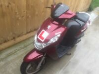 Peugeot kisbee 50cc scooter moped ped 2013 in mint condition