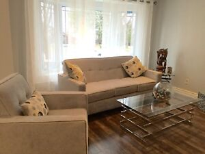 Like new sofa and chair $700