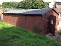 LARGE WORK SHED 12m x 3m base complete with light fixings and insulation