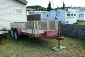 14x5 foot tandem axle trailer