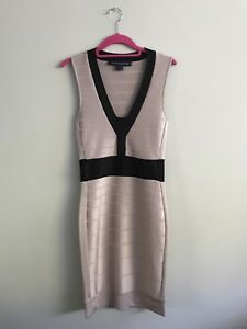 French connection nude pink bodycon bandage dress