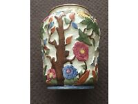Indian Tree hand painted vases. One pair. Excellent condition.