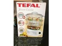Tefal steam cuisine, new unused food steamer perfect for steaming foods and healthy eating