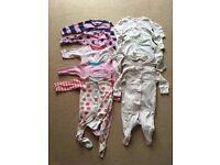 Baby girl's babygrow bundle 3-6 months