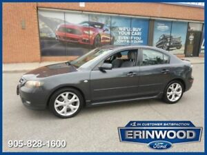 """2007 Mazda 3 GT2.3 / ROOF / PWR GRP / 17"""" WHLS"""