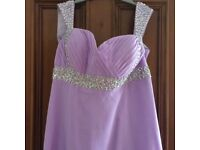 Lilac floor length bridesmaid dress size 14