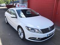 2014 PASSAT CC GT 2.0 TDI WHITE £30 TAX