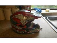 TRIK Junior Motocross helmet and Oakley goggles