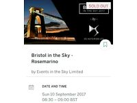 Tickets for Bristol in the Sky