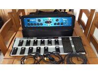 V amp pro plus FCB 1010 midi foot controller in rack bag
