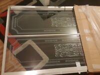 April Identiti Sliding Shower Door 1000mm Tempered Glass - Silver Frame Grandeur