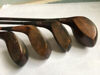 Vintage Golf Clubs. Early twentieth century. Men and women's. Golf Bag.