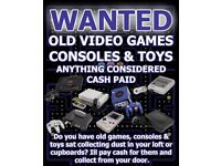 WANTED - Old Video Games and Consoles, SNES, NES, N64, GAMEBOY, SEGA, SATURN, MEGADRIVE, MEGA CD ETC
