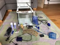Aquarium fish tank or tropical fish complete set