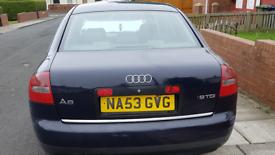 £550 53 reg Audi a6 1.9 tdi se Full black leather Mot till end November Drives well 199k miles