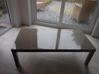 Contemporary Puro Hi Gloss Coffee Table for Sale