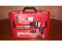 18V Cordless Hammer Drill + Impact Driver Kit + Carry Case & Charger