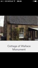 One bed cottage, by Stirling University