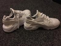 Men's Nike Huarache, All White Size : 7
