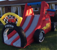Bouncy castle (water slides) and climbing rock rentals