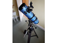 SkyWatcher 130PM Motorised Newtonian Reflector Telescope and Revelation Eyepiece and Filter Kit