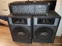 Peavey Amplifier, speakers and stands