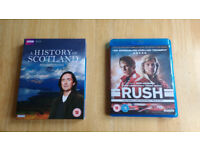 Blu-ray A History of Scotland (complete series) and Rush in mint condition