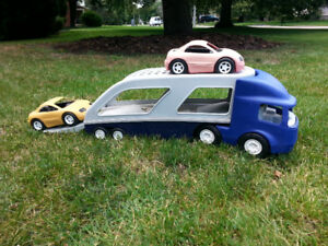 Truck and car combo toy