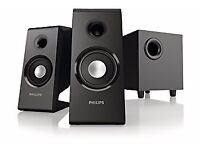 Philips 2.1 surround sound speakers. Brand new