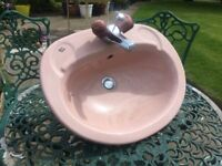 Vanity basin with mixer tap