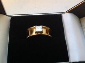 Gorgeous 0.5 Carat Princess Cut Diamond Set in 18 Carat Solid Gold Ring