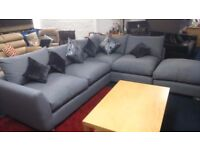BRAND NEW*Corner sofa*left or right handed*Grey fabric*300 x 280cm*